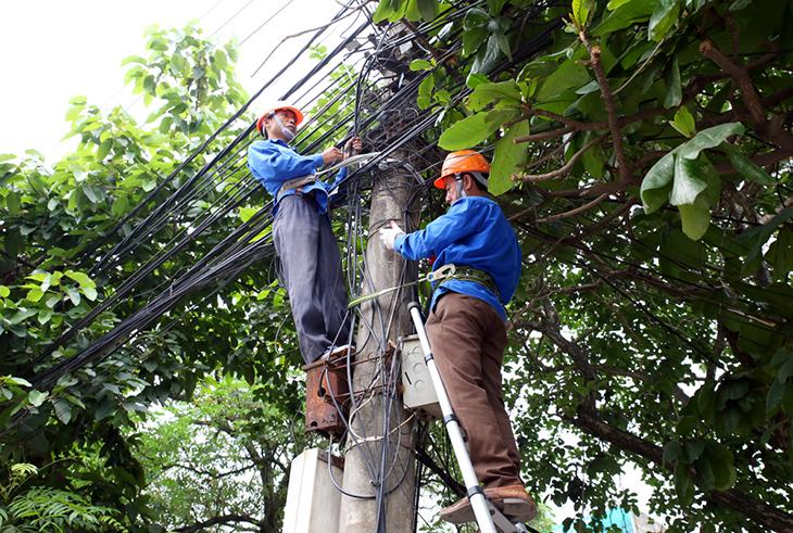 Trong ngành điện lực, viễn thông