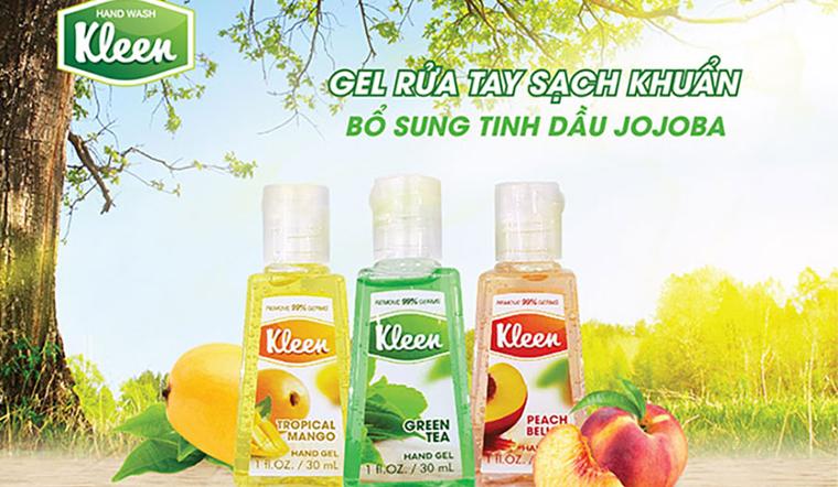 Bảo vệ cả gia đình với Gel rửa tay khô Kleen, vừa an toàn, vừa tiện lợi
