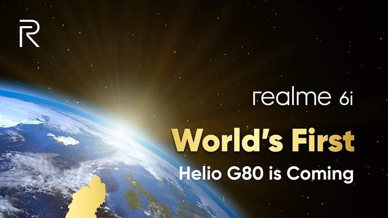 Realme 6i giá rẻ, 4 camera sau sẽ là smartphone đầu tiên được tích hợp chip Helio G80