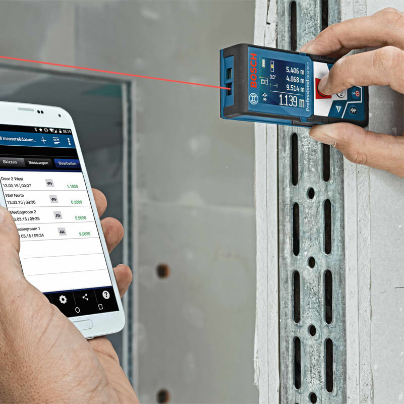 Máy đo khoảng cách kết nối với điện thoại