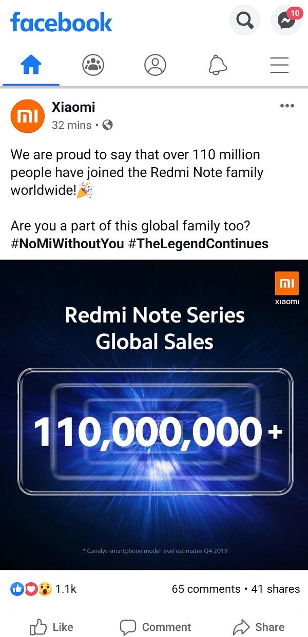 Doanh số dòng Redmi Note vượt mốc 110 triệu chiếc trên toàn cầu, bạn có nằm trong số những người mua ủng hộ?