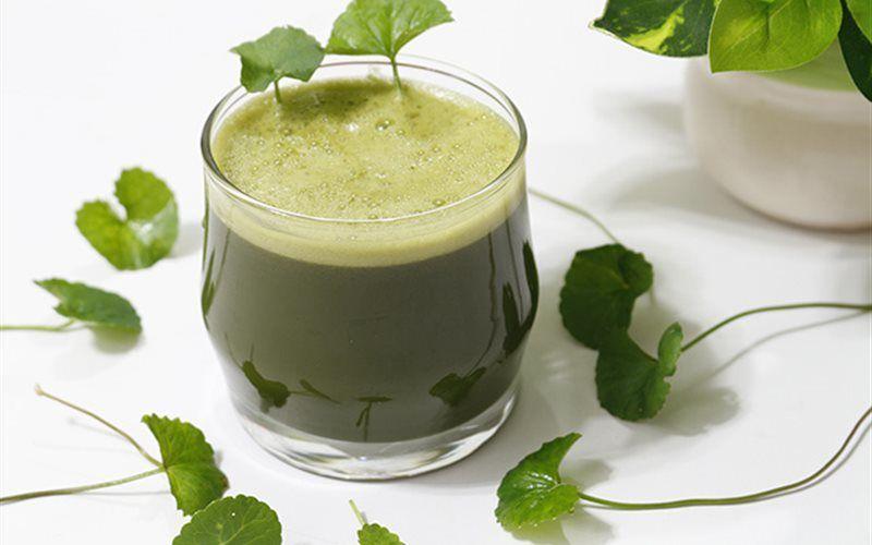Công thức mix rau má với các nguyên liệu khác