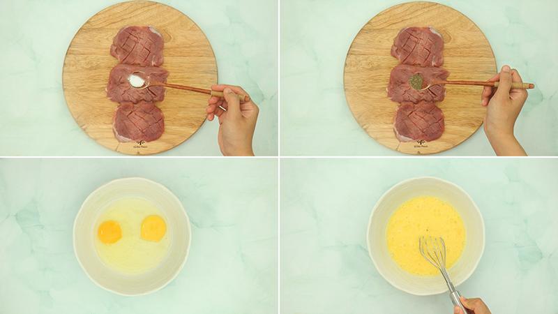 Cách làm thịt heo tẩm bột chiên xù