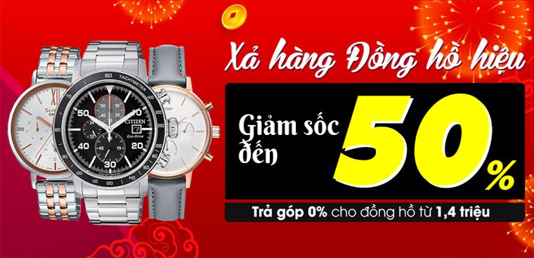 Đồng hồ thời trang·xả hàng giá sốc - giảm đến 50%
