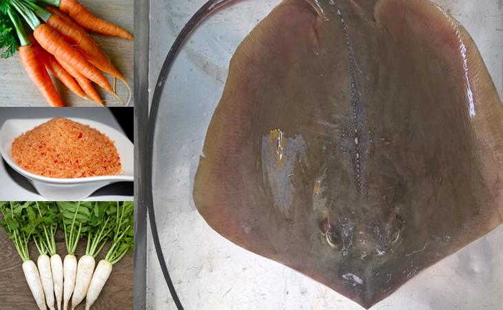 Nguyên liệu món ăn 2 cách làm cá đuối nướng nghệ và nướng muối ớt