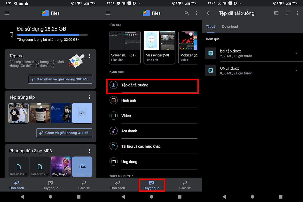 Sử dụng Files của Google để coi tệp tải xuống trên điện thoại Android dễ dàng