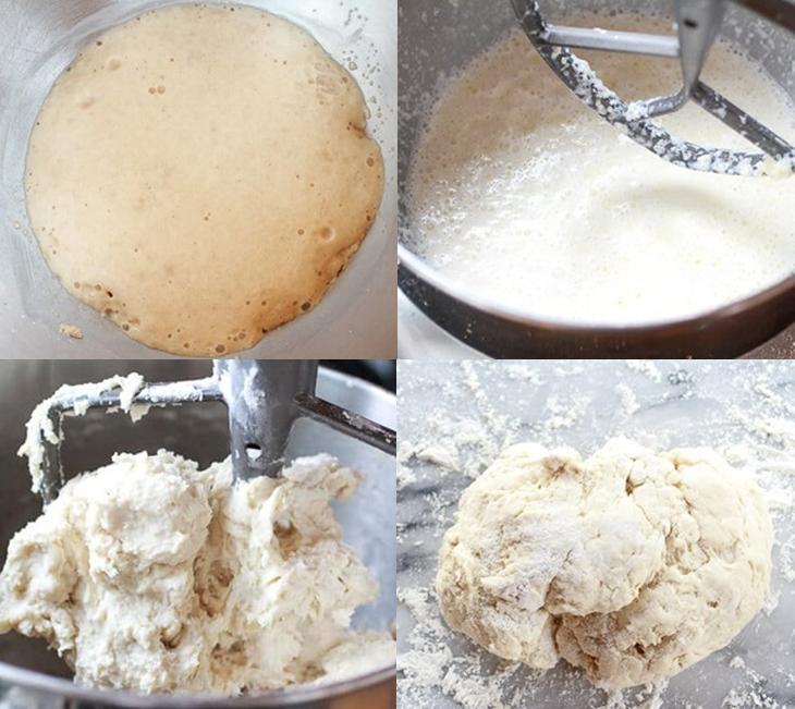 Bước 1 Nhào bột, nghỉ bột Bánh sừng bò (bánh croissant)