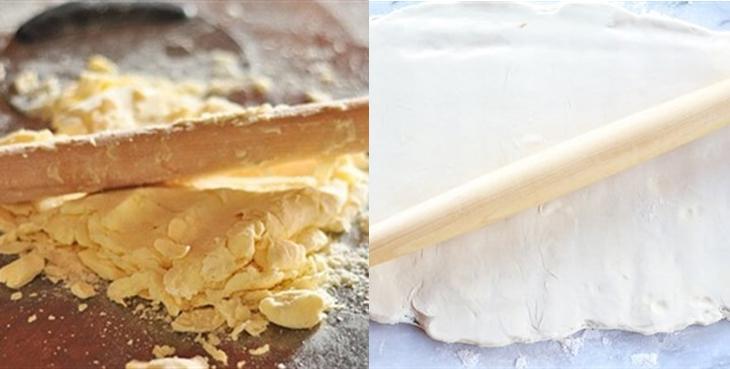 Bước 2 Cán bơ lạt, ủ bột lần 1 Bánh sừng bò (bánh croissant)