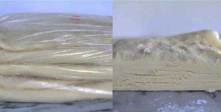 Bước 4 Cán bột, gấp và ủ lần 3 Bánh sừng bò (bánh croissant)