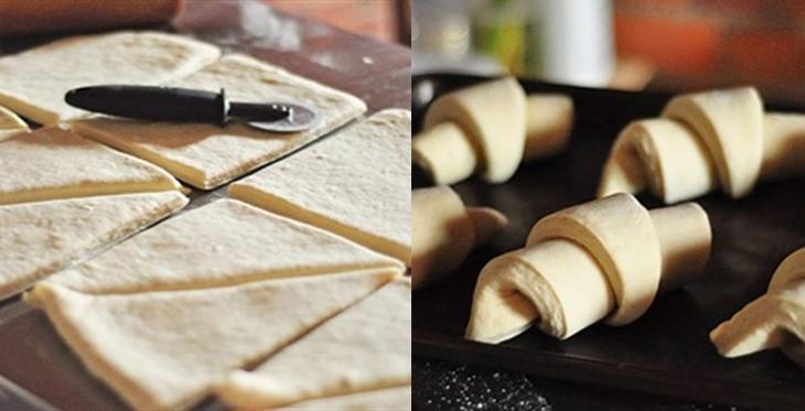 Bước 5 Tạo hình Bánh sừng bò (bánh croissant)