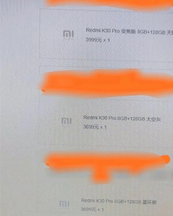 Redmi K30 Pro và K30 Pro Zoom Editon lộ giá bán trước ngày ra mắt