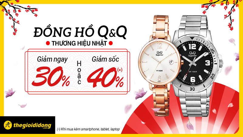 Đồng hồ nhật Q&Q giảm sốc