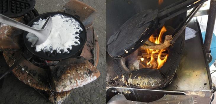 Bước 2 Đổ bánh Bánh tàn ong truyền thống
