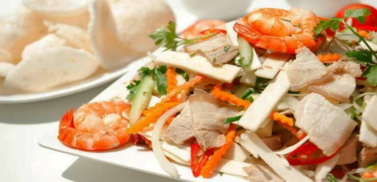 3 cách trộn gỏi củ hủ dừa với tôm thịt, thịt gà và bao tử thơm ngon