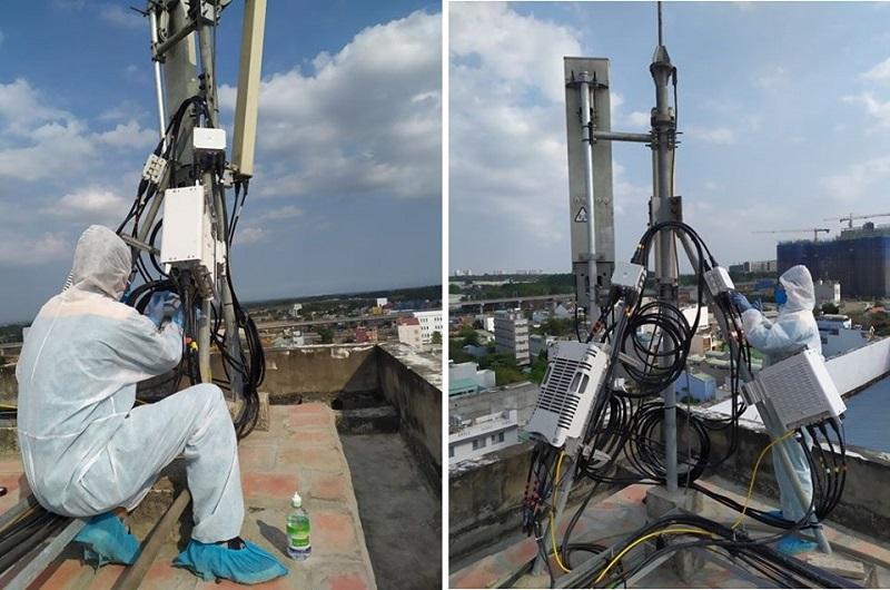 Viettel lắp trạm phát 4G tốc độ cao tại khu cách ly Đại học quốc gia