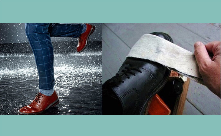 Với giày bị thấm nước