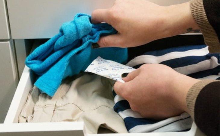 Khi bảo quản đồ lót nên để ở ngăn riêng trong tủ quần áo.