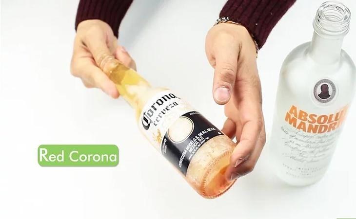 Pha chế bia Corona đỏ