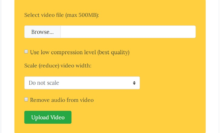 Nền tảng VideoSmaller (Web)
