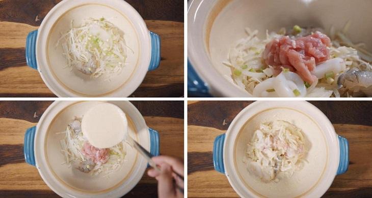 Bước 2 Làm bột Bánh xèo Nhật Bản - Okonomiyako