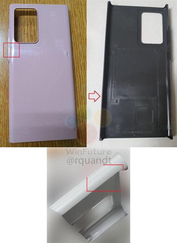 Rò rỉ phần khung của Samsung Galaxy Note 20