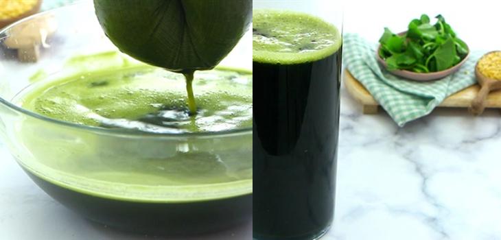 Bước 2 Xay và lọc lấy nước rau má Rau má đậu xanh