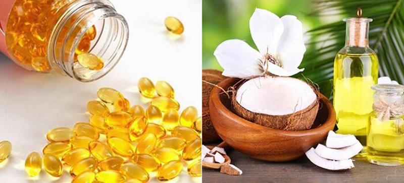 Sử dụng dầu dừa và vitamin E để dưỡng mi