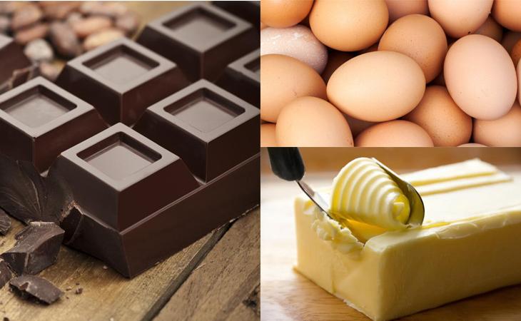 Nguyên liệu món ăn bánh brownie socola