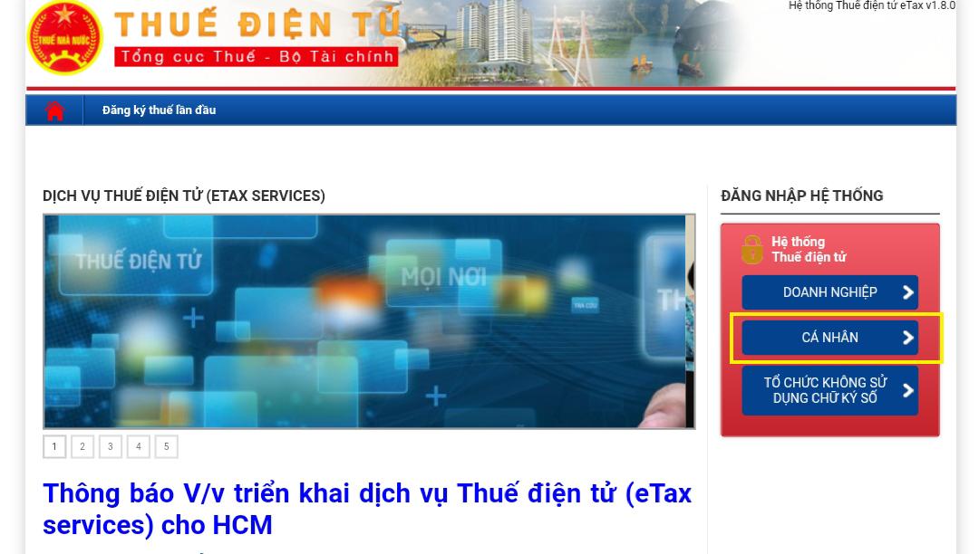 Cách tra cứu trên trang web Thuế điện tử