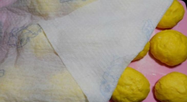 Bước 2 Trộn bột và ủ bánh Bánh khoai lang chiên phồng