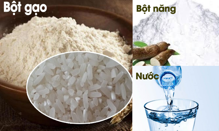 Nguyên liệu món ăn 3 cách làm sợi bánh canh