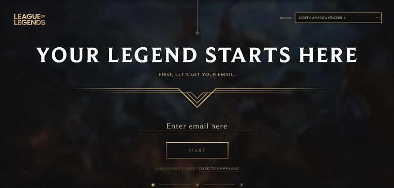 Tạo tài khoản Riot Games
