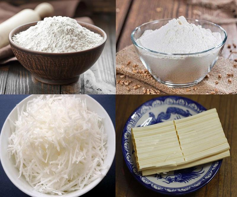 Nguyên liệu món ăn bò bía ngọt
