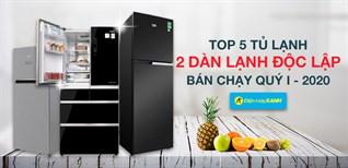 Top 5 tủ lạnh có 2 dàn lạnh độc lập bán chạy nhất quý I - 2020 tại Điện máy XANH