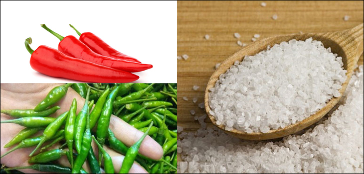 Nguyên liệu món ăn cách làm muối xí muội và muối ớt rang