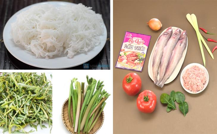 Nguyên liệu món ăn lẩu cá khoai chua cay