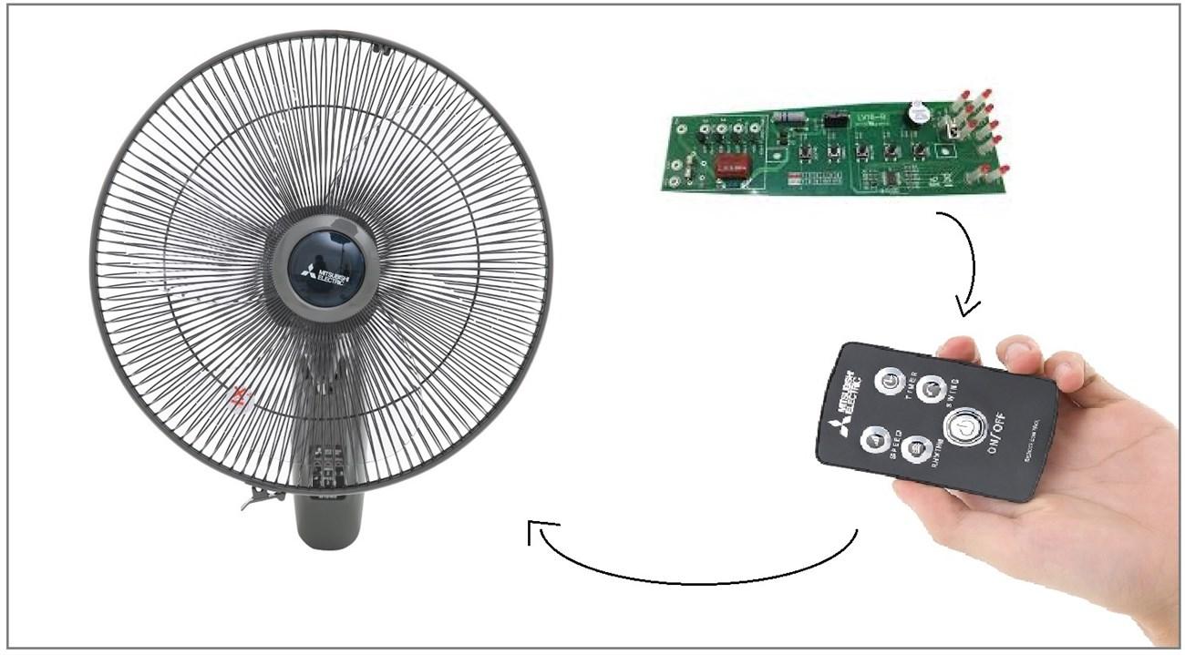 Cách lắp vi mạch điều khiển cho quạt: Biến quạt thường thành quạt điều khiển từ xa