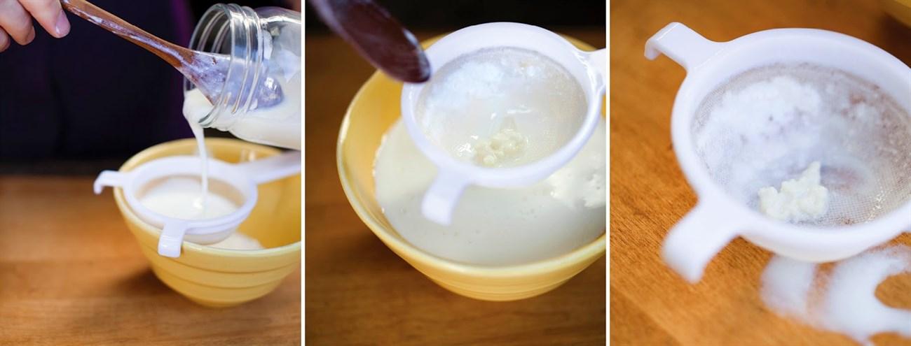 Bước 3 Lọc sữa chua Sữa chua từ nấm sữa Kefir