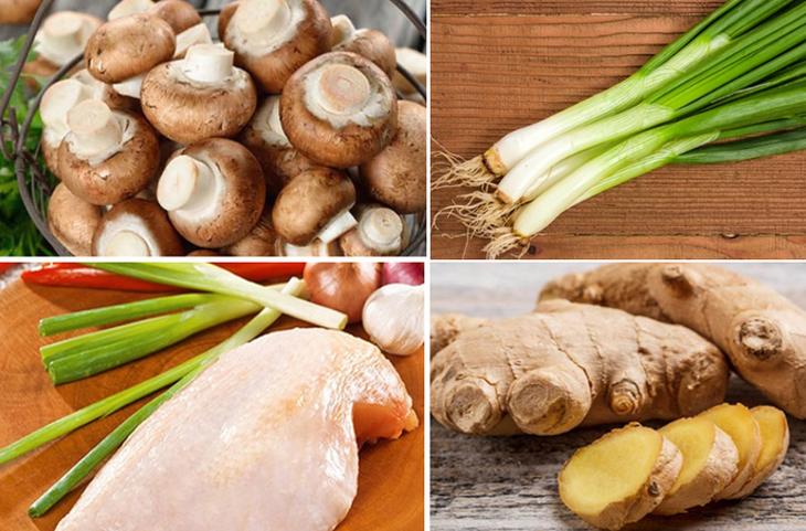 Nguyên liệu món ăn gà xào nấm