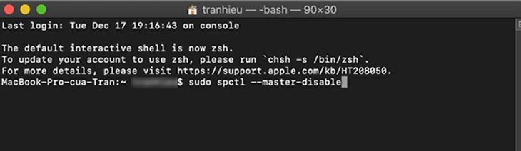 Bạn mở ứng dụng Terminal