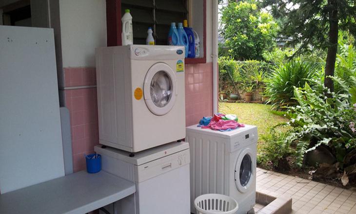 Lắp đặt máy giặt sai chỗ