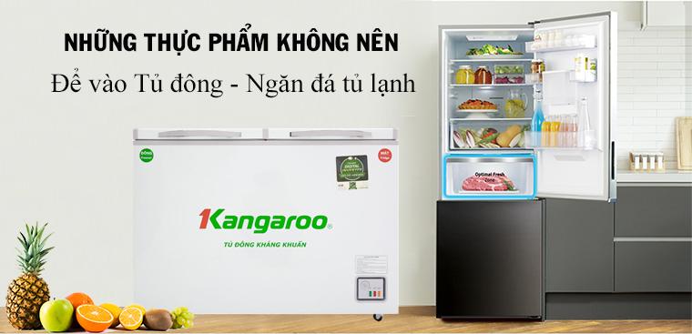 14 loại thực phẩm không nên bỏ vào tủ đông, ngăn đông tủ lạnh