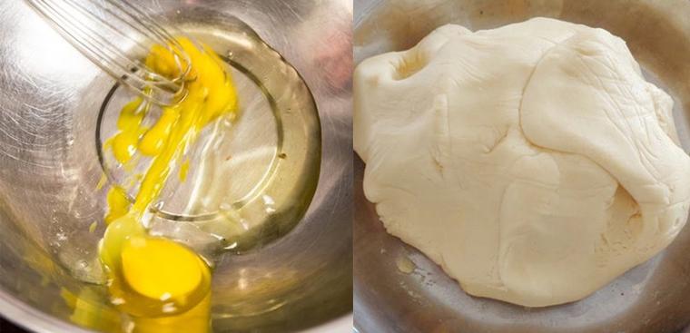 Bước 1 Trộn bột Bánh bột nếp chiên lăn đường