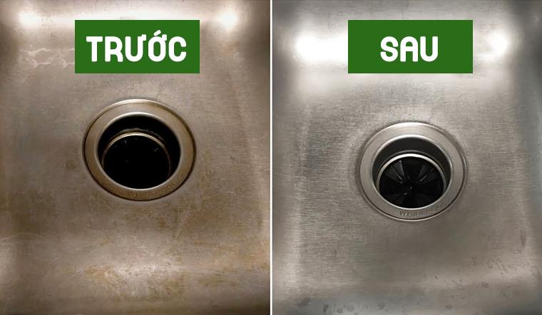 Vệ sinh bồn rửa mặt ố vàng sạch bong chỉ với các nguyên liệu mà nhà ai cũng có
