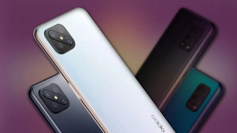 OPPO A92 lộ ảnh render mới cho thấy mặt trước có nốt ruồi chứa camera selfie, mặt sau đi kèm với 4 camera xếp theo hình chữ L