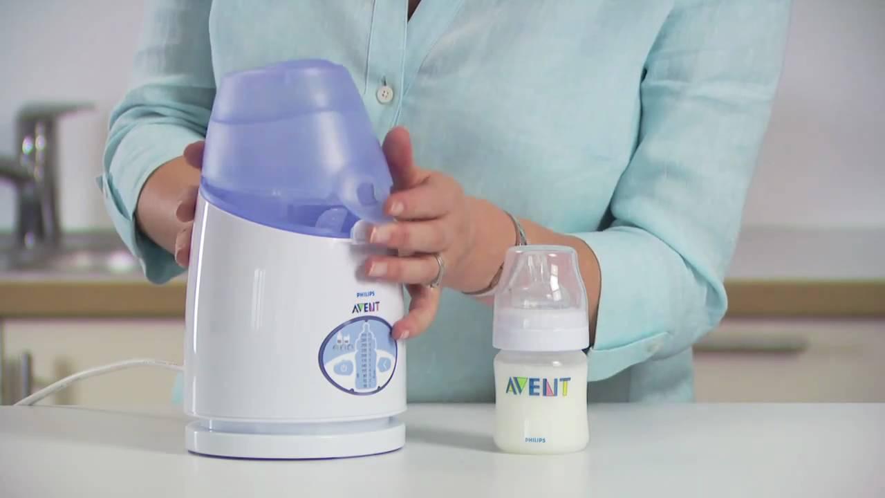 Cách hâm sữa để ngăn mát bằng máy hâm sữa