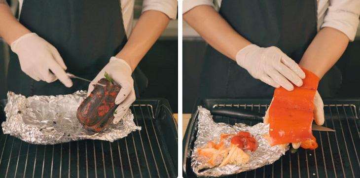 Bước 1 Sơ chế ớt chuông Rau củ hầm Ratatouille