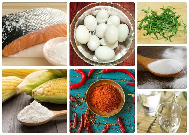 Nguyên liệu món ăn da cá trứng muối
