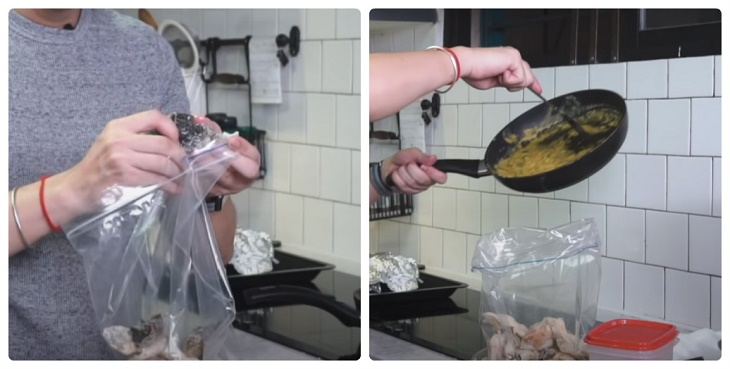 Bước 4 Làm da cá trứng muối Da cá trứng muối