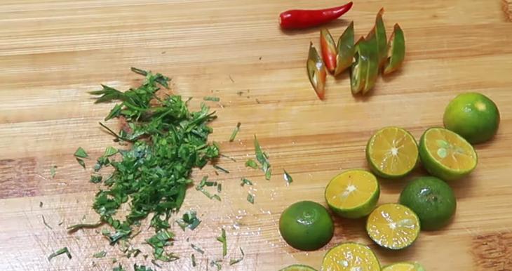 Bước 5 Làm nước chấm chua ngọt Sò dương nướng mỡ hành